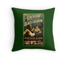 Creature Black Lagoon Throw Pillow