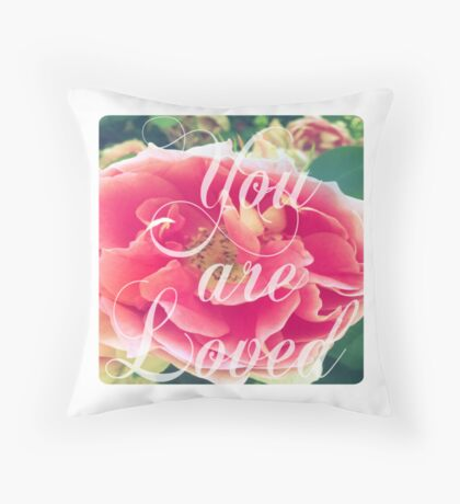 Rose of Sharyn- Lily White Throw Pillow