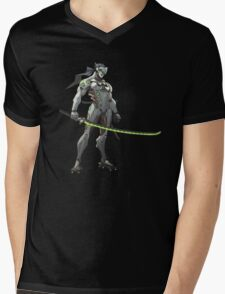Overwatch - Genji Stance Mens V-Neck T-Shirt