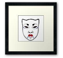 Japanese Porcelain Mask Framed Print