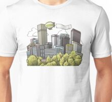 Downtown cannabis town Denver Unisex T-Shirt