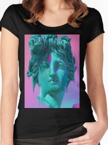 Glitch Statue Women's Fitted Scoop T-Shirt