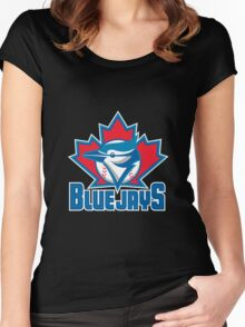 Toronto_Blue_Jays_Logo_ Women's Fitted Scoop T-Shirt