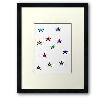 Pixel stars  Framed Print
