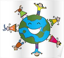 Lets join hands to save earth Poster