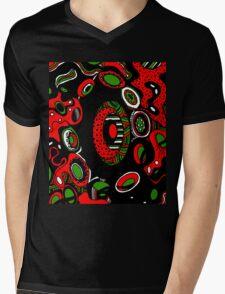 Miniature Aussie Tangle 13 Xmas Colours  1 Mens V-Neck T-Shirt