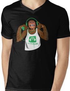 Green Monkey  Mens V-Neck T-Shirt
