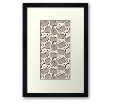 Everyday Cute Pushen Framed Print