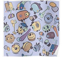 abstract  characters  Poster