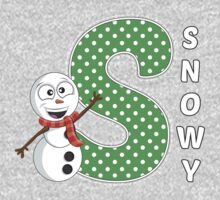 'S' is for Snowy! One Piece - Long Sleeve