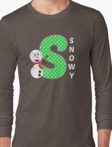 'S' is for Snowy! Long Sleeve T-Shirt