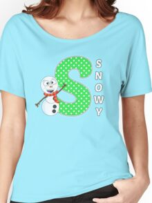 'S' is for Snowy! Women's Relaxed Fit T-Shirt