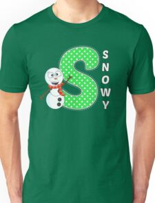 'S' is for Snowy! Unisex T-Shirt