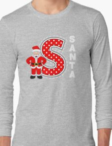 'S' is for Santa! Long Sleeve T-Shirt