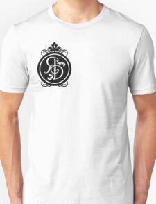 Plain white t-shirt with black motif Unisex T-Shirt