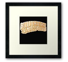bbc gold Framed Print