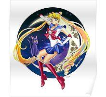 Sailor Moon and Luna Poster