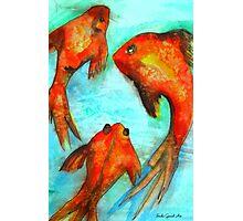 Oriental Fish Koi watercolour art Photographic Print