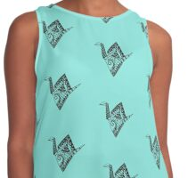 Origami swan Contrast Tank
