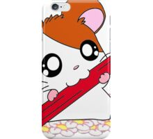 Hamtaro with pencil & flowers iPhone Case/Skin