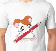 Hamtaro with pencil & flowers Unisex T-Shirt