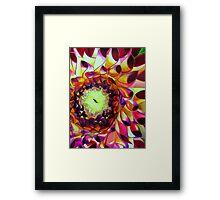 Purple Dahlia macro flower watercolour art Framed Print