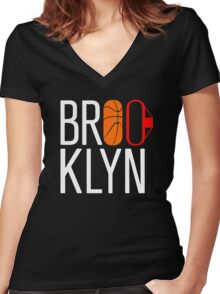 Brooklyn Women's Fitted V-Neck T-Shirt