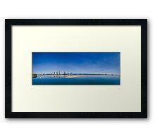 Gold Coast Broadwater, QLD, Australia Framed Print