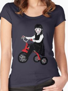 Saw Girl Puppet Women's Fitted Scoop T-Shirt
