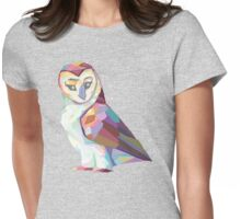Geometric Owl Womens Fitted T-Shirt