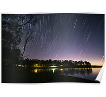 Lake Samsonvale Star Trails Poster