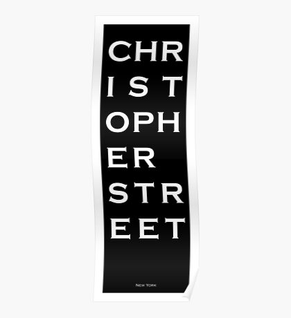 Christopher Street - NYC - Black Poster