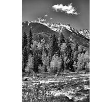 Grenadier Range and Las Animas River Study 2 Photographic Print