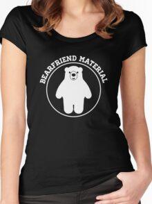 Bearfriend Material Women's Fitted Scoop T-Shirt