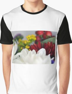Macro on colorful flower petals. Graphic T-Shirt
