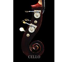Cello 2 Labeled Photographic Print