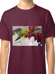Macro on colorful flower petals. Classic T-Shirt
