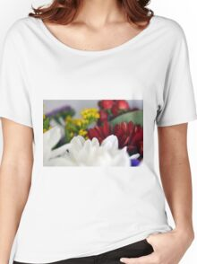 Macro on colorful flower petals. Women's Relaxed Fit T-Shirt