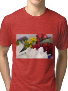 Macro on colorful flower petals. Tri-blend T-Shirt