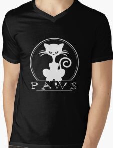 PAWS love pets awesome animals cool funny t-shirt Mens V-Neck T-Shirt