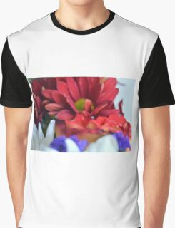 Macro on colorful flower petals in watercolor style Graphic T-Shirt