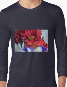 Macro on colorful flower petals in watercolor style Long Sleeve T-Shirt