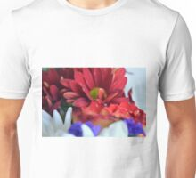 Macro on colorful flower petals in watercolor style Unisex T-Shirt