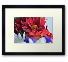 Macro on colorful flower petals in watercolor style Framed Print