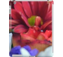 Macro on colorful flower petals in watercolor style iPad Case/Skin