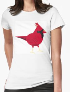 Red northern cardinal Womens Fitted T-Shirt