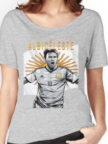 Messi Argentina World Cup Shirt Women's Relaxed Fit T-Shirt