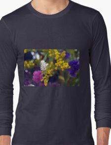 Colorful blurry small flowers pattern. Long Sleeve T-Shirt