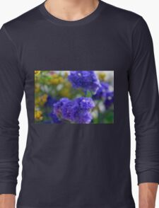 Colorful image in watercolor style with painted flowers. Long Sleeve T-Shirt