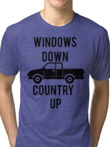 Windows Down Country Up Tri-blend T-Shirt